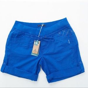 Prana Avril Shorts Island Blue NEW WITH TAGS